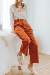 Yurla Button Long Pants