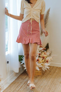 Hollie Checkered Skirt