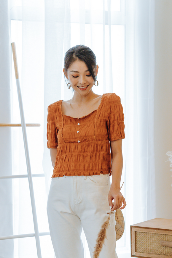 Kaylani Square-neck Top