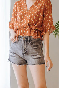 Phobe Ripped Denim Short