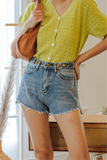 Lyra Buttons Denim Shorts