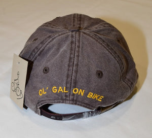 Ol' Gal On Bike Hat