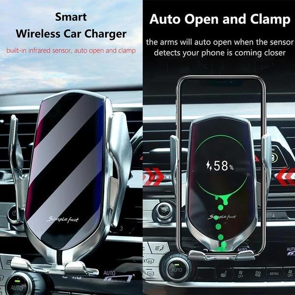 (Buy 2 Free shipping&20%OFF !)Wireless Automatic Sensor Car Phone Holder and Charger