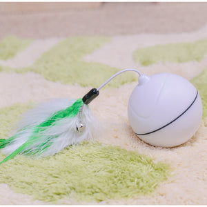 Funny Pet Cat Dog LED Light Laser Ball Teaser Exercise Automatic Interactive Toy
