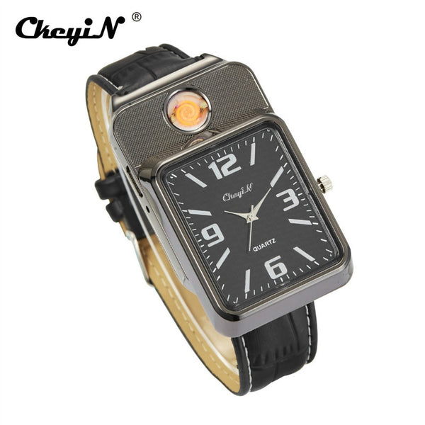 CkeyiN Militar Cigarette Watch Lighter - PriceDelux