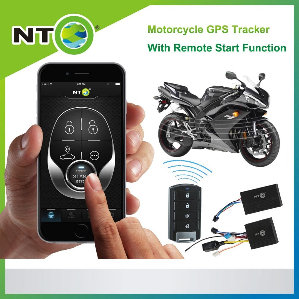 NT Motorbike GPS Tracker Alarm System (iOS/Android) - PriceDelux