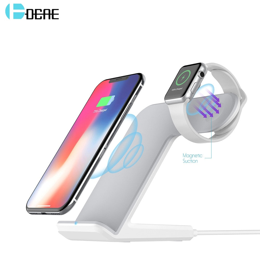 Fast Wireless Charger 2 in 1 DCAE - PriceDelux
