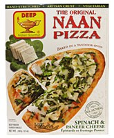 Deep's The Original Naan Pizza Spinach & Paneer Cheese