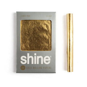 "SHINE 24K GOLD Rolling Paper - 1 1/4"" - 2 Sheet Pack"