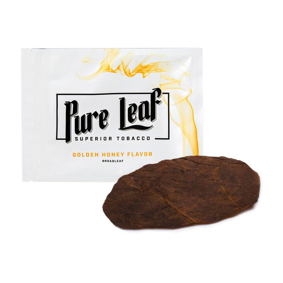 SHINE Pure Leaf Tabacco Wraps - Golden Honey Flavor - 3 Wrap Pack