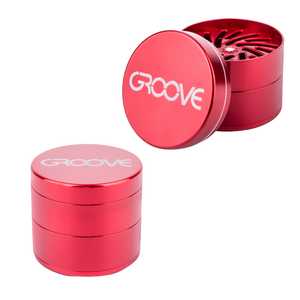 Groove Grinder by AeroSpaced: 4 Piece Aluminum Grinder With Sifter (50mm)