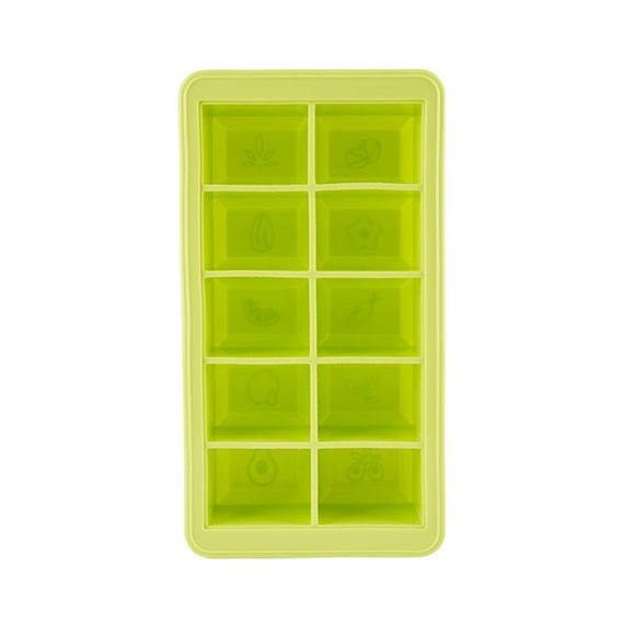 Levo Oil Silicone Infusion Storage Solution Block with Lid - Green