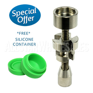 Adjustable Titanium Nail 2 in 1 - 14mm/18mm Silicone Jar