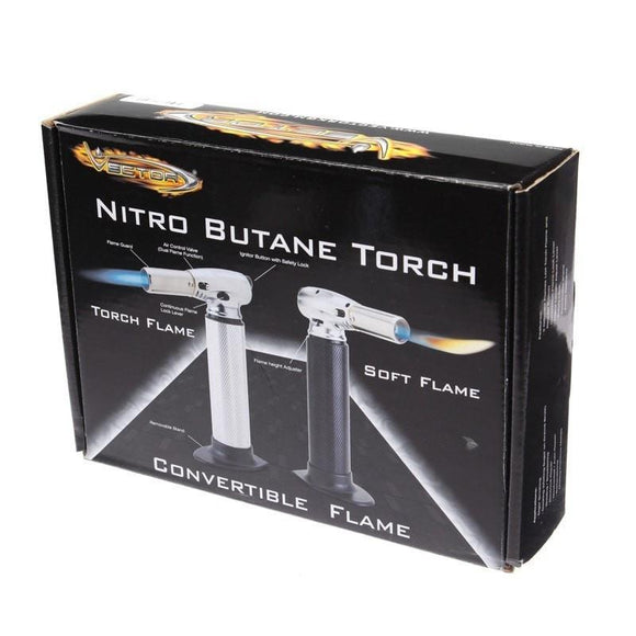 Vector Nitro Butane Torch + FREE ring stand (various colors)