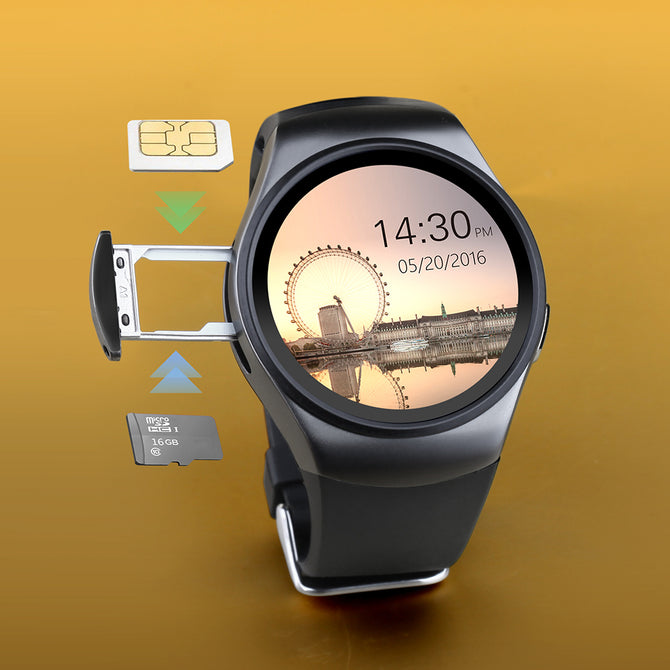 Fancy High Tech Smart Watch with SIM Support and Heart Rate Monitor for iOS & Android