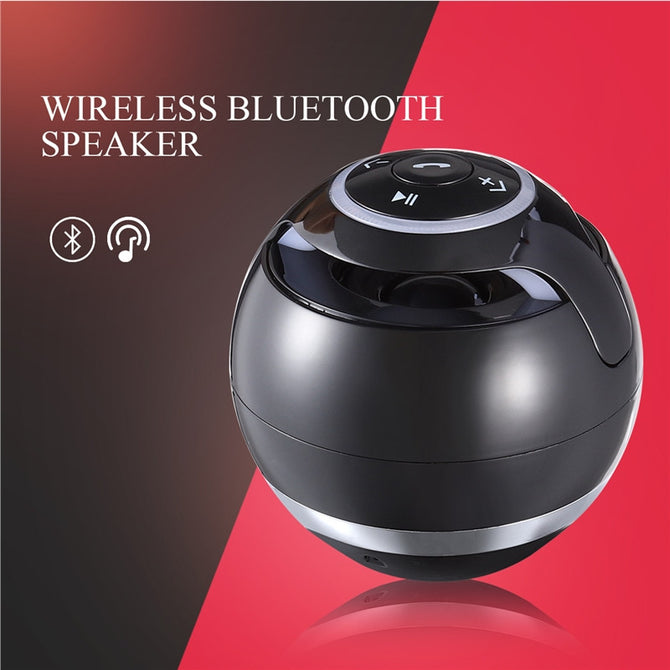 Portable Wireless Speaker with Mini USB Charging and LED Light