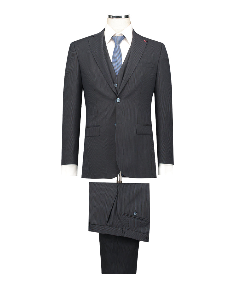 DS DAMAT SUIT WITH VEST.