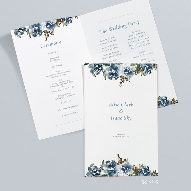 Wedding Floral Wedding Programs