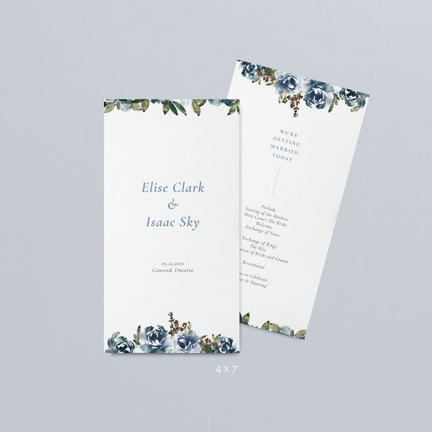 Elise Wedding Programs