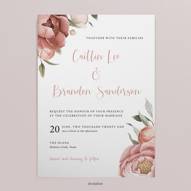 Caitlin Invitations