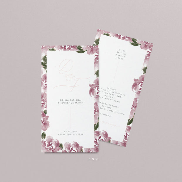 Delma Wedding Programs