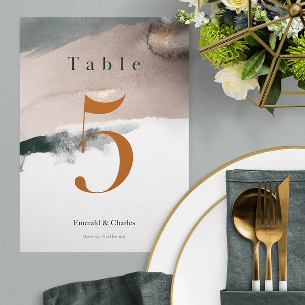 Emerald Table Numbers