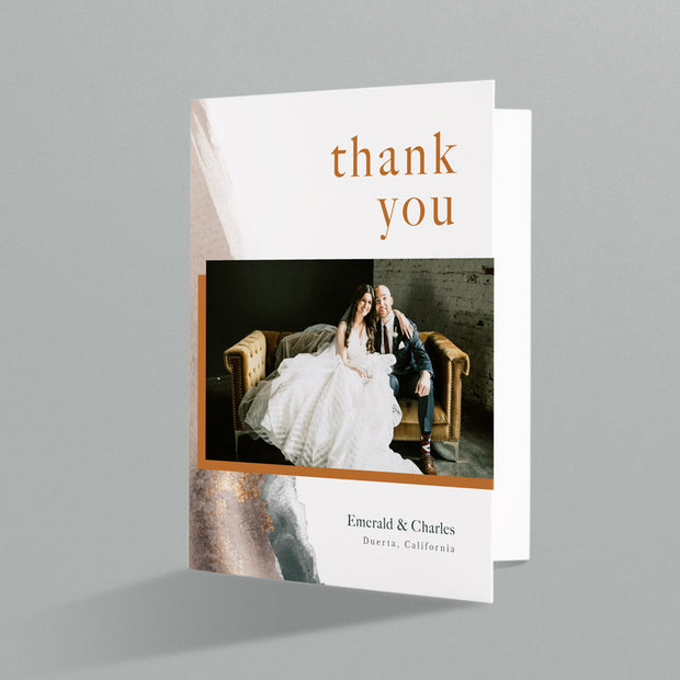 Emerald Thank You Cards