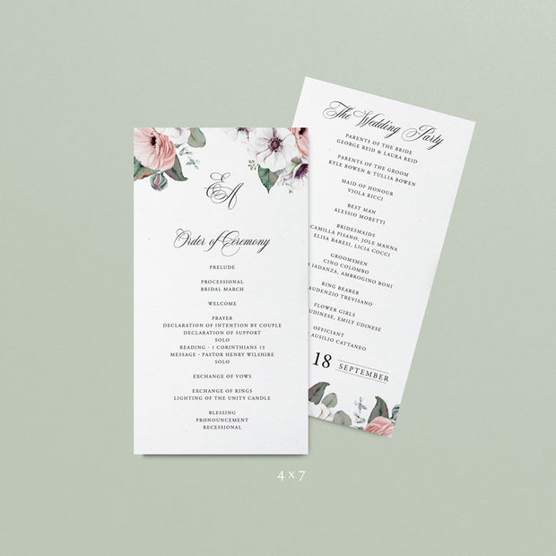 Estelle Wedding Programs