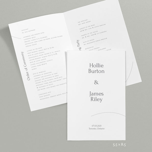 Hollie Wedding Programs