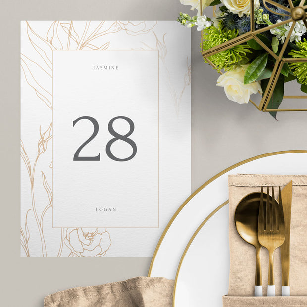 Jasmine Table Numbers