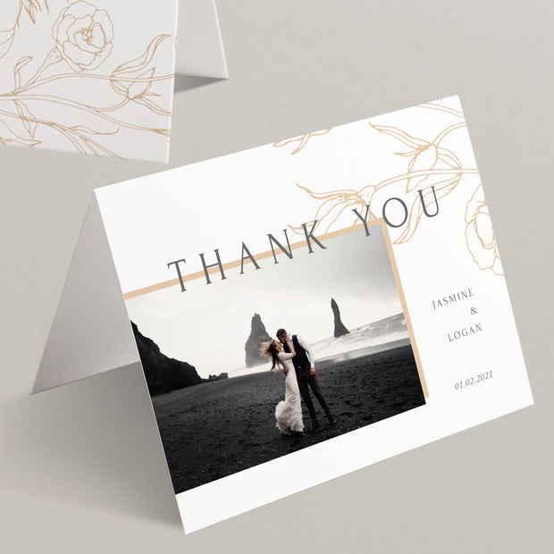 Jasmine Thank You Cards