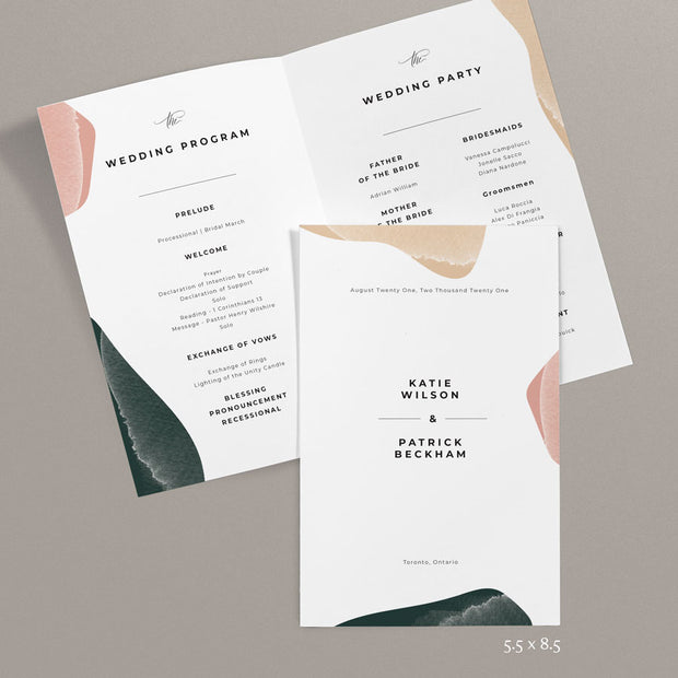 Katie Wedding Programs