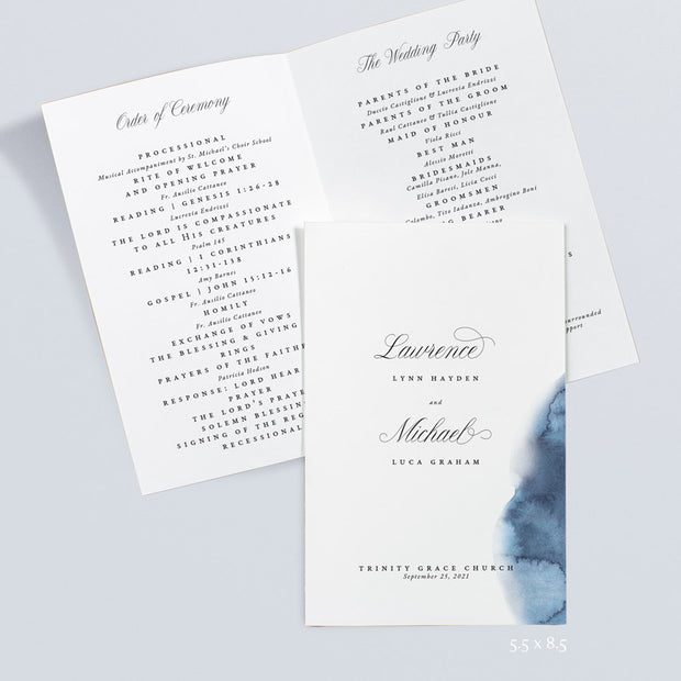 Lawrence Wedding Programs