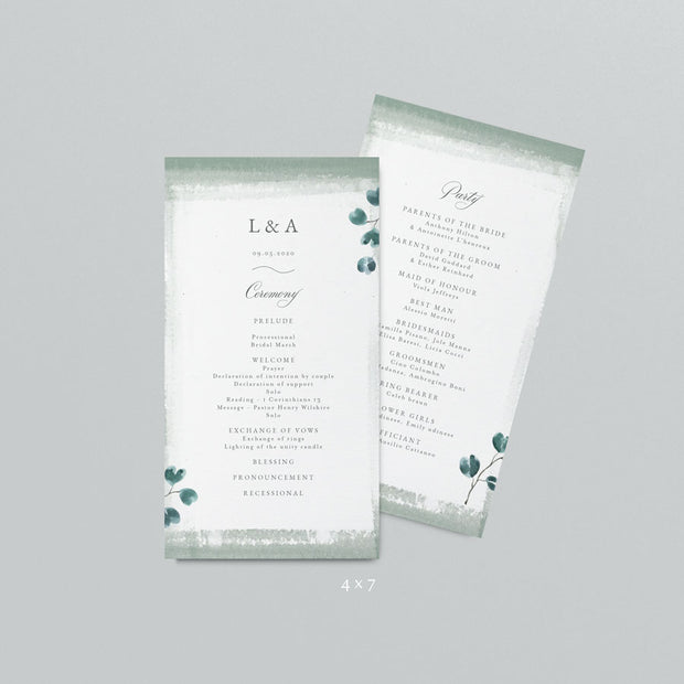 Libby Wedding Programs