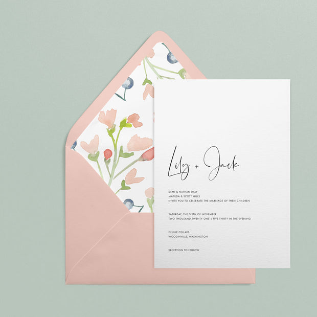 Lily Invitations