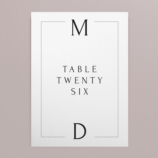 Maddison Table Numbers
