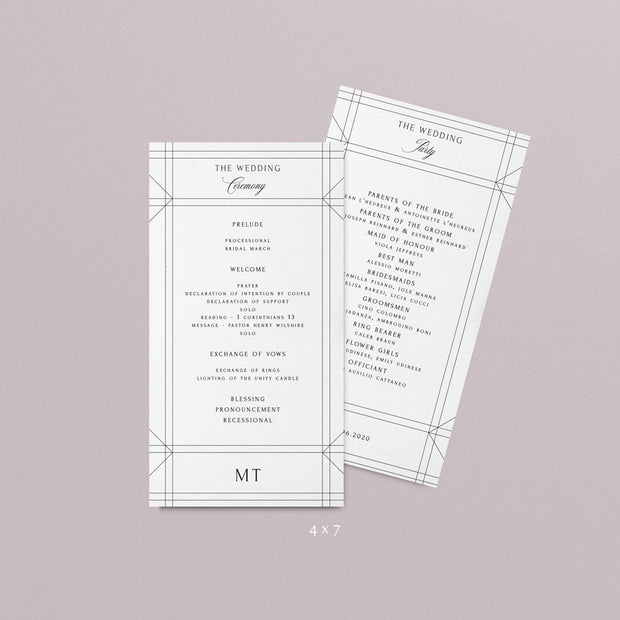 Mia Wedding Programs