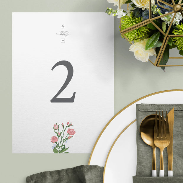 Sarah Table Numbers