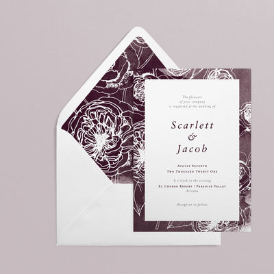 Scarlett Invitations