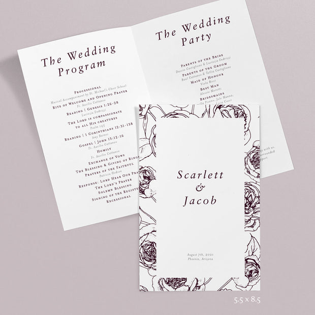 Scarlett Wedding Programs