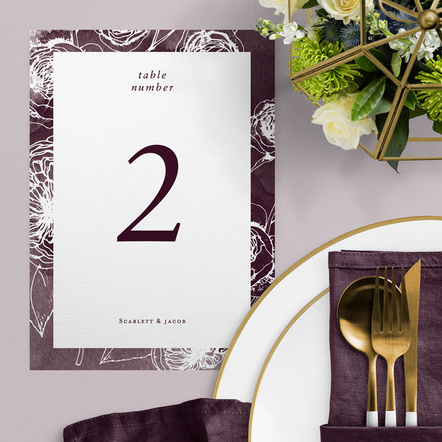 Scarlett Table Numbers