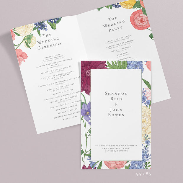 Shannon Wedding Programs