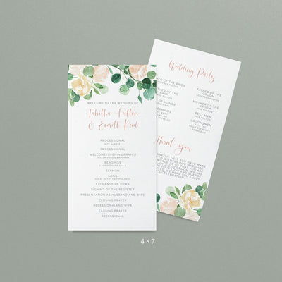 Tabitha Wedding Programs