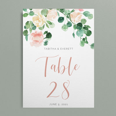Tabitha Table Numbers
