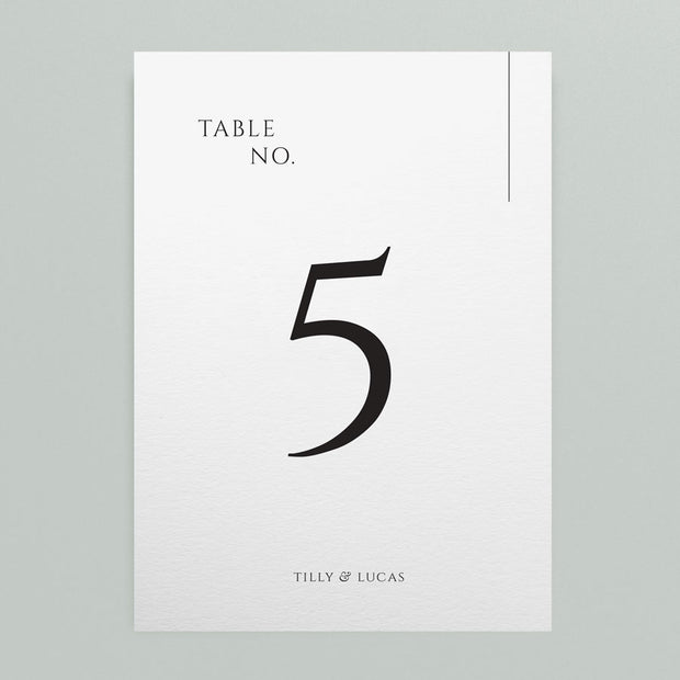 Tilly Table Numbers