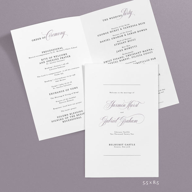 Yasmin Wedding Programs