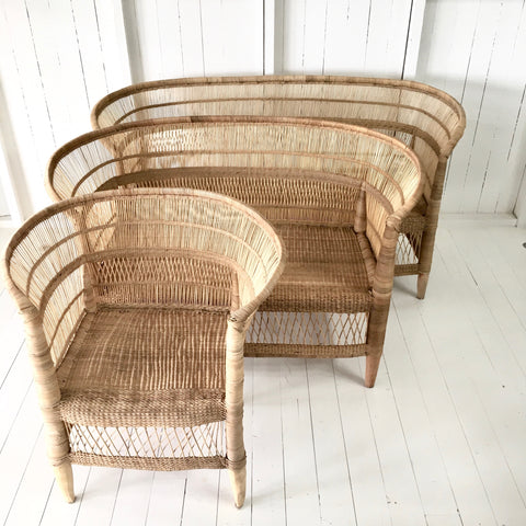 Malawi Cane Traditional 1,2 or 3-seater