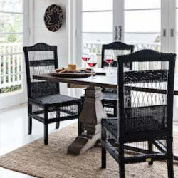Malawi Traditional Dining Chair - Black