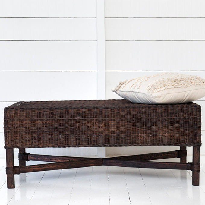 Malawi Classic Rectangle Bench - Dark Brown