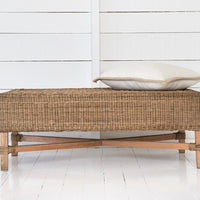 rectangle bench malawi cane